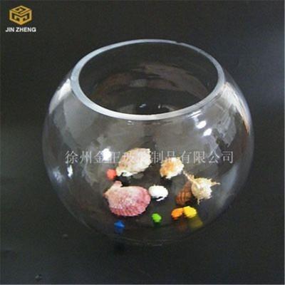 圆形透明玻璃金鱼缸