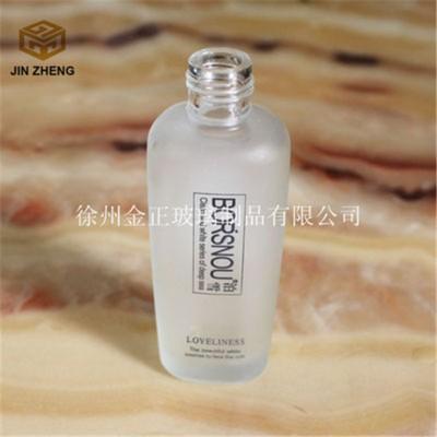 蒙砂印刷丝口玻璃膏霜乳液瓶