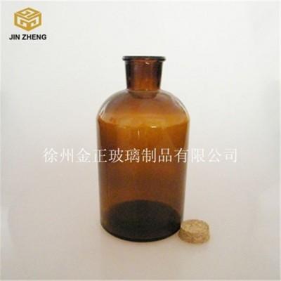1000ml细口棕色木塞不磨口玻璃试剂瓶