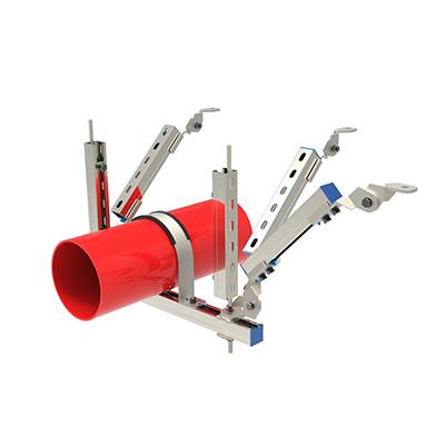 DN200以上单管双向抗震支架