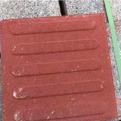 彩色生态透水砖铺设